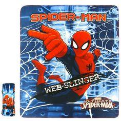 Fleece Deken - Spiderman (120x140cm) Spiderman, Strand, Deadpool, Comic Books, Superhero, Comics, Cover, Fictional Characters, Art