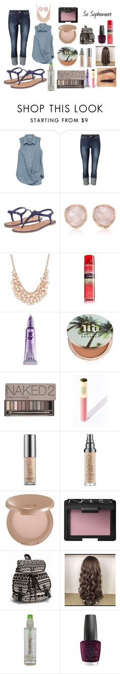 """""""So Sophomore"""" by amp31001 on Polyvore featuring Bobeau, Chinese Laundry, Monica Vinader, Charter Club, Urban Decay, tarte, NARS Cosmetics, NLY Accessories, Paul Mitchell and OPI"""