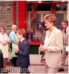 October 27, 1993: Princess Diana with Prince William in Cardiff.