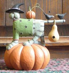 Punkin' Pals from the Williraye Studio Halloween Collection $29.99 at the Cottage Gift Shop - Elmira, NY