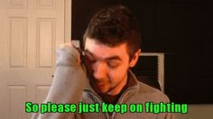 Jacksepticeye crying. He is so sweet