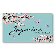 Spa  Salon Business Card - Cherry Blossoms