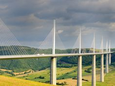 Located over in southern France, the Millau Viaduct in the Aveyron region is one of the country's greatest engineering achievements. It also happens to be the tallest bridge in the world at 1,125 feet. Opened in 2004, the four-lane bridge is now a major route connecting France with Spain and offers beautiful views of the valley of the River Tarn.