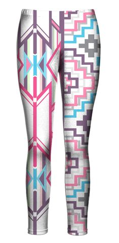 "belovedwear® presents the #PinkAztec leggings. The ""all over"" Leggings are made…"