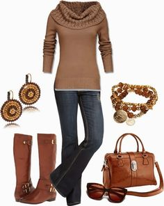 Get Inspired by Fashion: Casual Outfits | Gold Tones find more women fashion on www.misspool.com