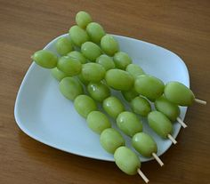 Matthew 20:1-16; Parable of the Vineyard Workers Frozen Grape Shish-kabob Snack