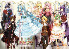 Vocaloid - Kaito, Meiko, Hatsune Miku, Kagamine Rin & Len, Megurine Luka, Gumi, Kamui Gakupo