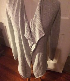Express Women's Silver Gray Metallic Open Front Sweater Size XS | eBay