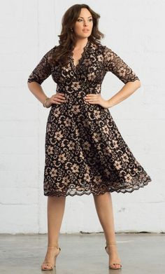 Mademoiselle Lace Dress #slimmingbodyshapers   Plus size shapewear and bras from slimmingbodyshapers.com would totally help keep your curves in shape, bringing out the best and keeping control and support