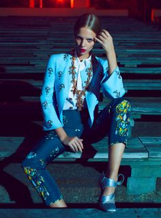 Night Vision – Thomas Whiteside captures nighttime glamour in a shoot for the August edition of Elle US