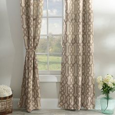 Taupe Gatehill Curtain Panel Set, 95 in. | Kirklands