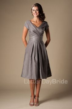 modest dresses for bridesmaids or prom, the Kimberly at LatterDayBride