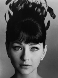 Style a la '60's. Christine Kaufmann, who married Tony Curtis.