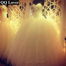 Robe De Mariage Princess Bling Luxury Crystals White Wedding Dress Gown 2016 Bridal Wedding Gown Vestido De Noiva custom made(China (Mainland))