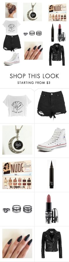 """Panic! At The Disco"" by ridethewaves16 ❤ liked on Polyvore featuring Converse, Lulu*s, MAC Cosmetics and IRO"