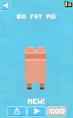 Unlocked fat pig in Crossy Road!