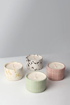 Cute Candles, Diy Candles, Luxury Candles, Candle Jars, Diy Clay, Clay Crafts, Ceramic Pottery, Pottery Art, Pastel Room