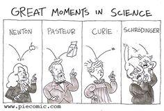 Great Moments In Science - Funny Memes. The Funniest Memes worldwide for Birthdays, School, Cats, and Dank Memes - Meme Science Puns, Funny Science Jokes, Funny Jokes, Hilarious, Science Comics, Science Cartoons, Humor Nerd, Nerd Jokes, Lab Humor