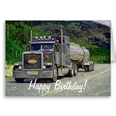 Big Rig Road Liner Truck Lover Birthday Card