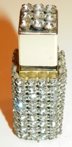 Small (purse sized) Clear Rhinestone Adorned Perfume Bottle