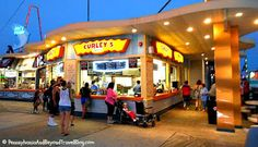 The best place to get French Fries on the Wildwood boardwalk is at Curley's Fries!  They also have great boardwalk lemonade!