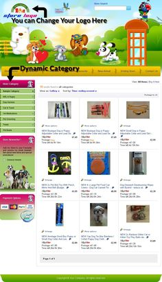 Best Animal Pet Theme Professional EBay Store Auction - Html ebay listing template free