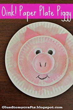 Oink! Paper Plate Piggy {Toddler Craft}