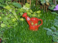 Watering can for fairy gardens miniature gardens by gardenflowers1