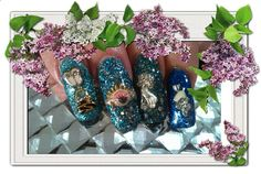 Blues with alloy nail art.
