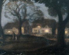 The Village Green at Night George Clausen (1852–1944)