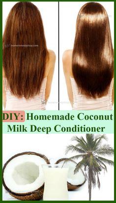 DIY Homemade Coconut milk Deep Conditioner