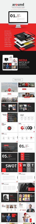 Anton Clean Creative PowerPoint Creative powerpoint, Marketing