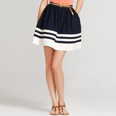 Tommy Hilfiger Stretch Poplin Full Skirt Skirt thestylecure.com