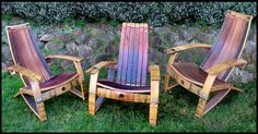 """I like just about everything on """"Barrel Concepts"""", including these Adirondack style chairs."""