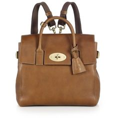 Mulberry Cara Delevingne Convertible Leather Satchel (13 645 SEK) ❤ liked on Polyvore featuring bags, handbags, apparel & accessories, oak, brown leather backpack, brown leather satchel, brown satchel purse, leather satchel and backpack purse
