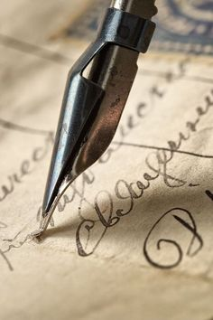 Photo about Ancient letter written by beautiful handwriting and an ink feather. Image of dirty, paper, letter - 2238106 Art Quilling, Old Letters, Dip Pen, Lost Art, Penmanship, Letter Writing, Script Writing, Writing Table, Letter Art