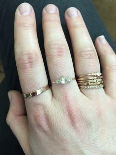 Stacking rings. Myrtille Beck. Rose gold. Engagement rings. Wedding rings.