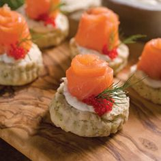 Dill Scone Bites with Smoked Salmon