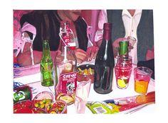 Thomas Levy Lasne, Fête 45 (15x20cm) aquarelle sur papier 2012
