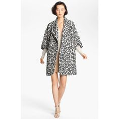 Tracy Reese Jacquard Coat ($445) ❤ liked on Polyvore