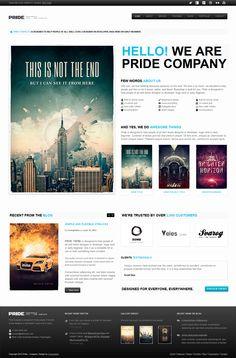 PRIDE - Responsive HTML Template. Siempre agradezco sitios con diseños refrescantes, en otras palabras, que no caigan en lo mismo de siempre...