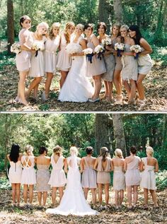 Bridesmaid Dresses, delightfully beautiful dress gown number 8246884032 - Romantic dress tip. wish other super eye popping example? Please visit the pin 8246884032 now. Wedding Pics, Wedding Styles, Dream Wedding, Wedding Ideas, Ivory Bridesmaid Dresses, Wedding Dresses, Wedding Bridesmaids, Beige Wedding, Sister Wedding