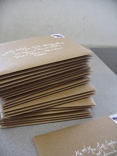 envelopes- love the white writing