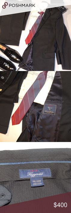 Brooks Brothers Suit - 1818 Fitzgerald Navy In great shape, this beautiful suit retails at $998.00. Pants are Flat Front with 33W and cuffed bottoms Brooks Brothers Suits & Blazers Suits