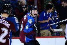 Colorado Avalanche defenseman Erik Johnson and his hockey smile!