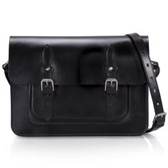 Glasgow is an original design, handmade leather satchel bag with traditional twin buckles. Bridle leather handbags made in Scotland by McRostie of Glasgow.
