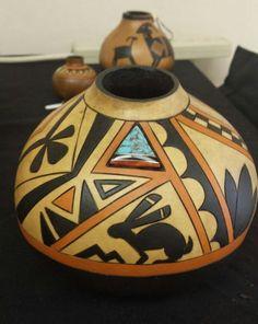 Southwestern Gourd Pot by Kristy