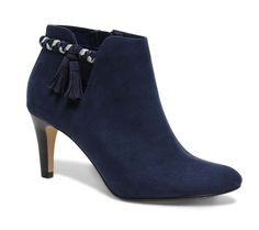 Boots cut out pompons bleu