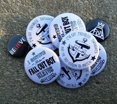 FALL OUT BOY pins! I want them ALL