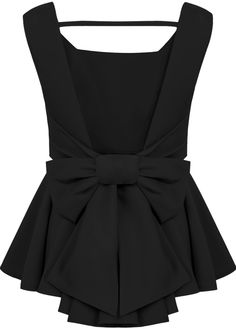 Sheinside offers Black Sleeveless Backless Bow Pleated Top & more to fit your fashionable needs. Hijab Fashion, Fashion Outfits, Hijab Stile, Mode Glamour, Bow Tops, Jackett, Dresscode, Black Blouse, Navy Blouse